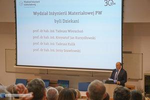 Inauguracja na Wydziale Inżynierii Materiałowej oraz obchody 30-lecia wydziału - 36 zdjęcie w galerii.