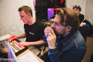 Andrzej Andy Michalecki i Filip Wasilewski podczas realizacji koncertu - 111 zdjęcie w galerii.